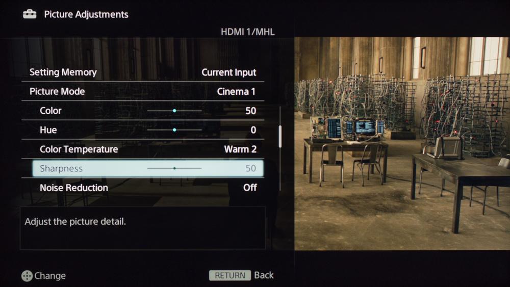 Sony W630B Calibration Settings 2