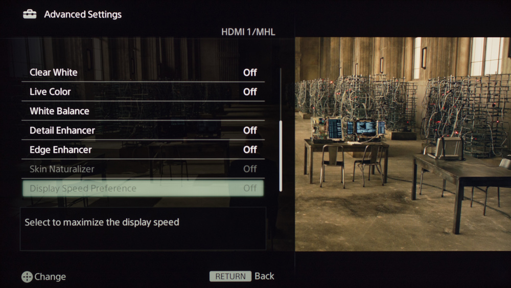 Sony W630B Calibration Settings 6
