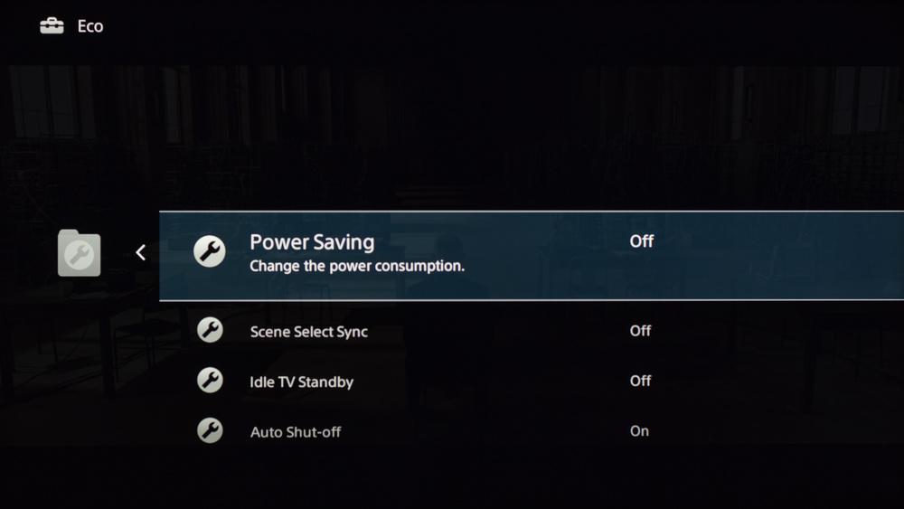 Sony W630B Calibration Settings 9