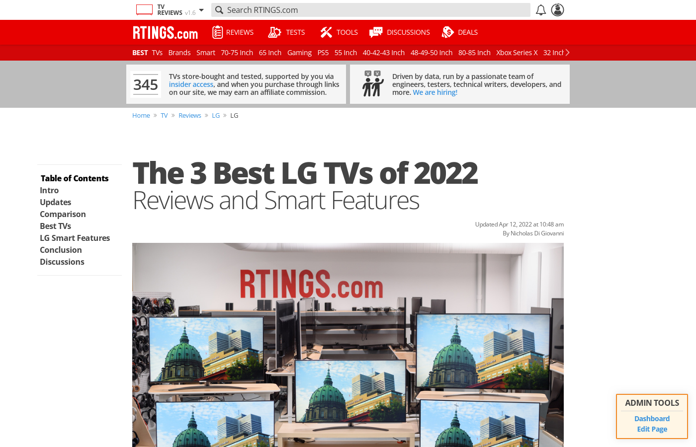 The Best LG TVs of 2019: Reviews and Smart Features - RTINGS com
