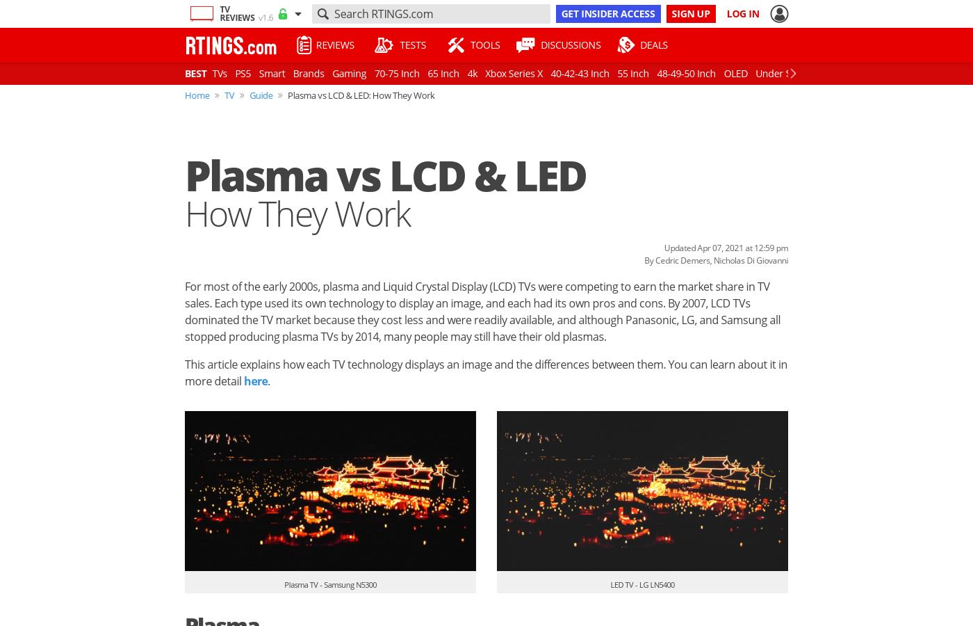 Plasma vs LED: How They Work - RTINGS com