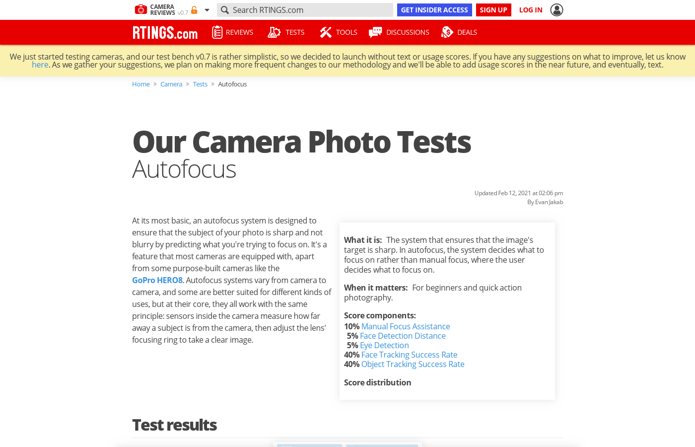 Our Camera Photo Tests: Autofocus