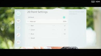 Samsung NU7100 Calibration Settings 22