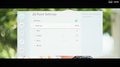 Samsung NU7100 Calibration Settings 31