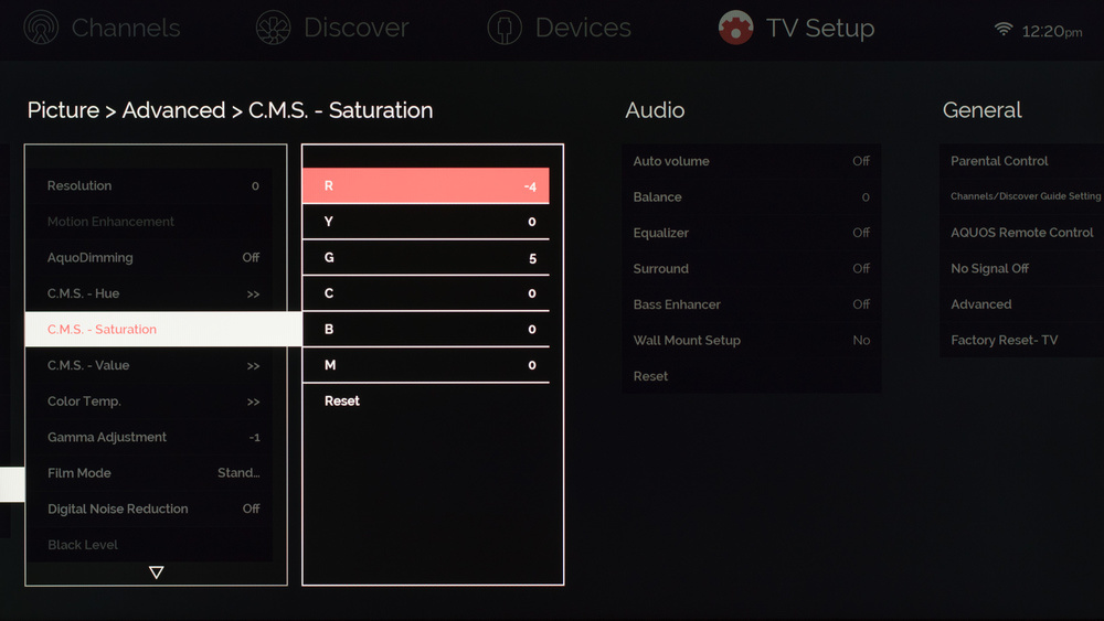Sharp UH30U Calibration Settings 5