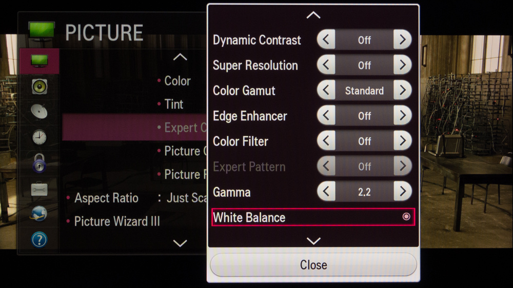 LG LB5800 Calibration Settings 3