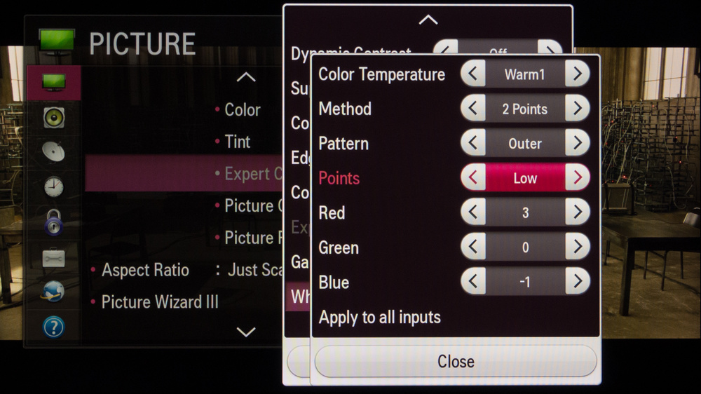 LG LB5800 Calibration Settings 4