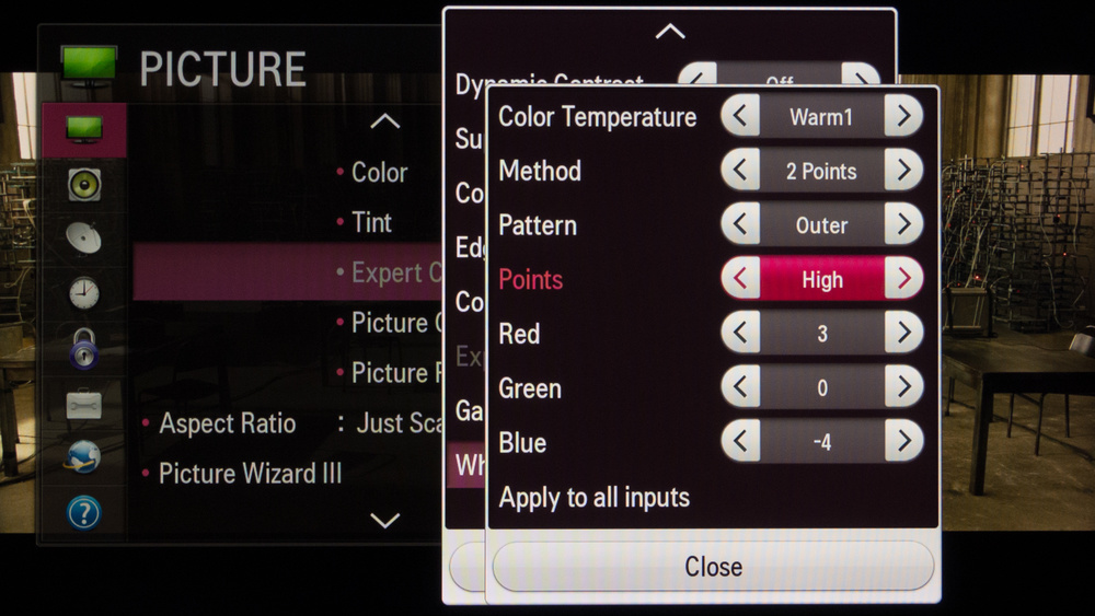 LG LB5800 Calibration Settings 5
