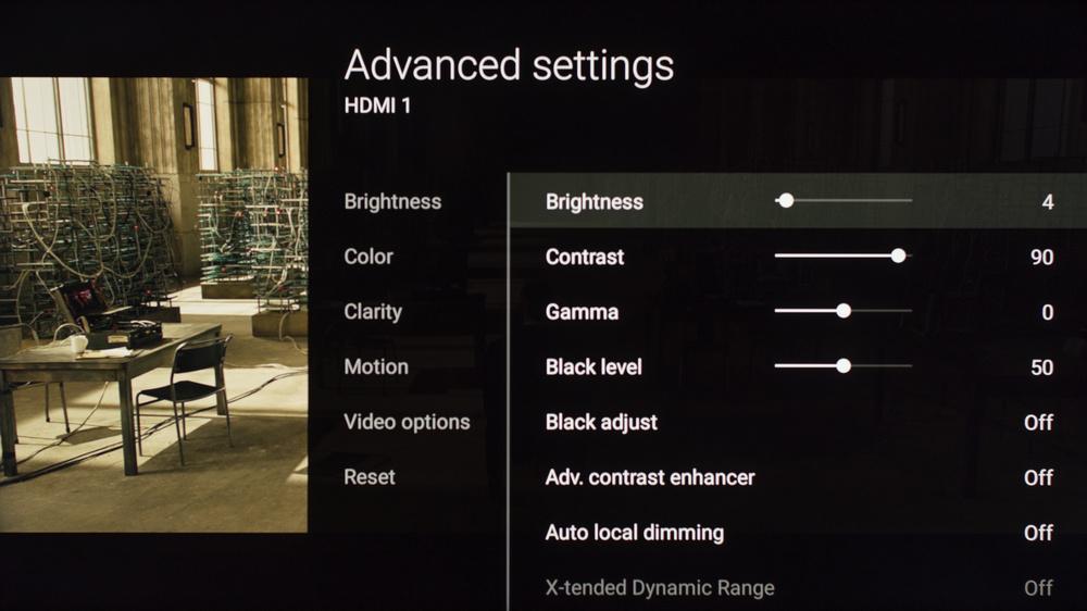 Sony X900E Calibration Settings 2