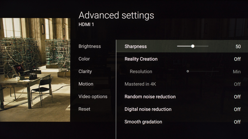 Sony X900E Calibration Settings 20