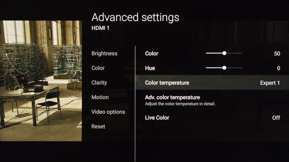 Sony X900E Calibration Settings 3