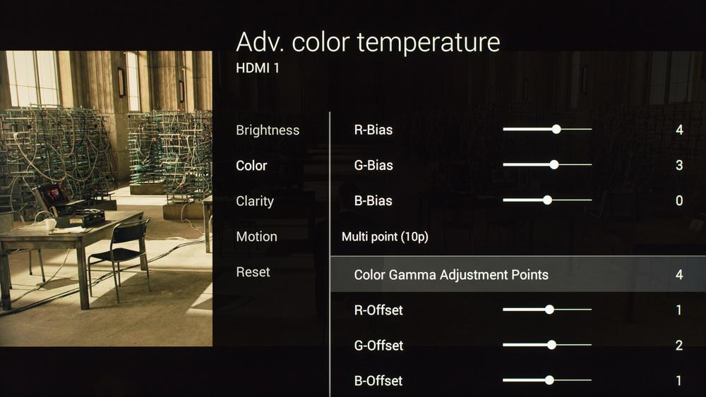 Sony X850C Calibration Settings 11