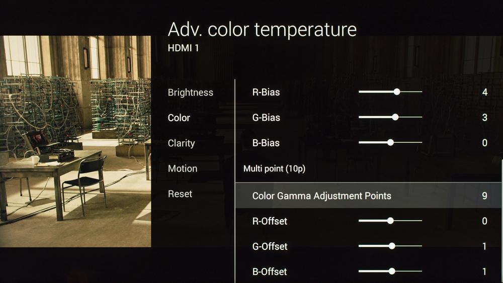 Sony X850C Calibration Settings 16