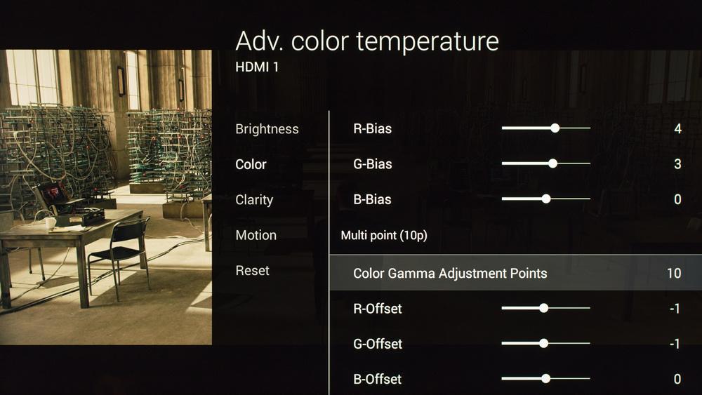Sony X850C Calibration Settings 17