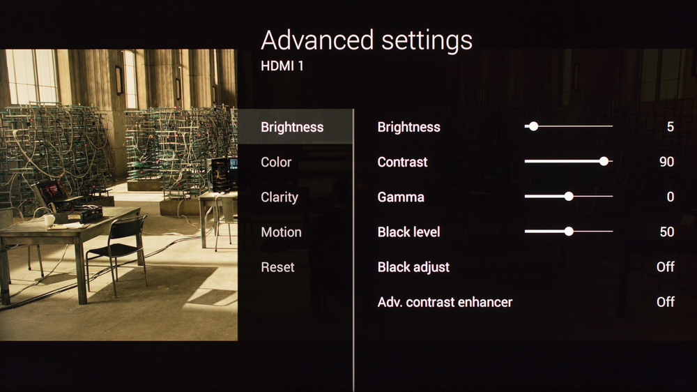 Sony X850C Calibration Settings 2