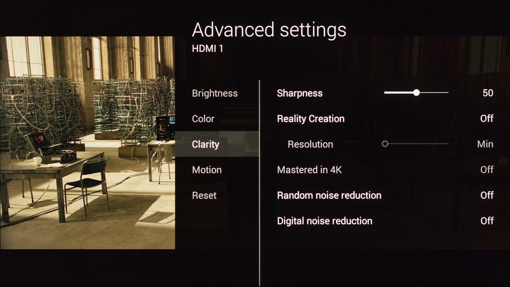 Sony X850C Calibration Settings 4