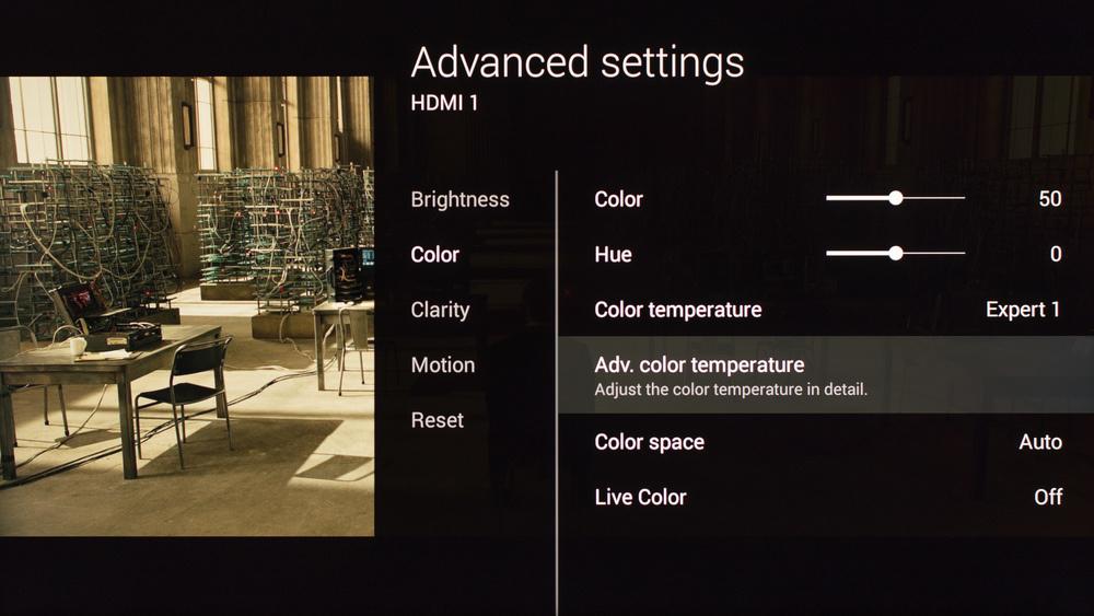 Sony X850C Calibration Settings 5