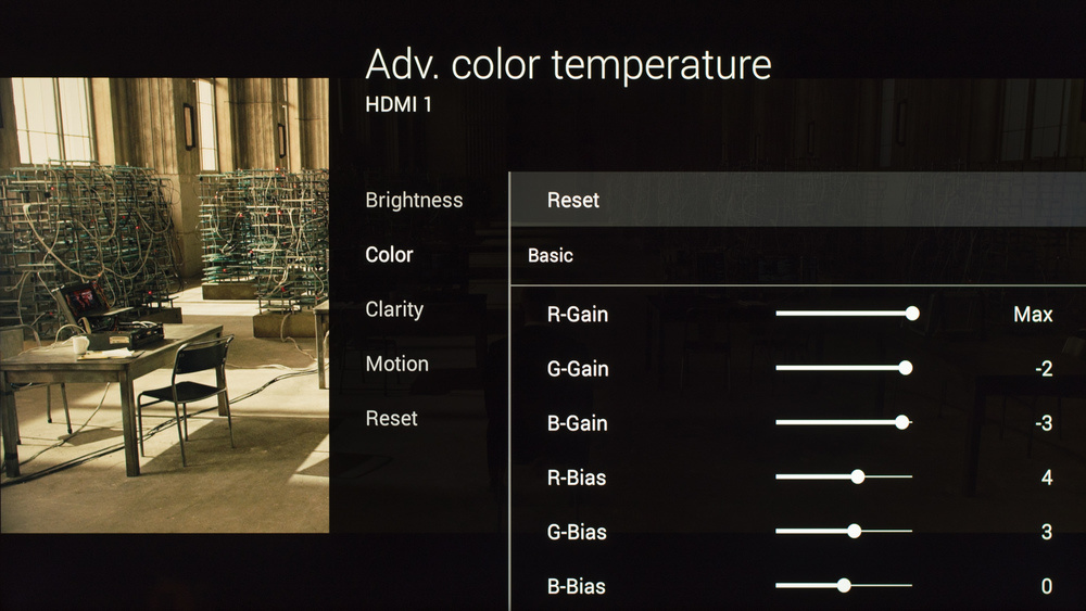 Sony X850C Calibration Settings 7