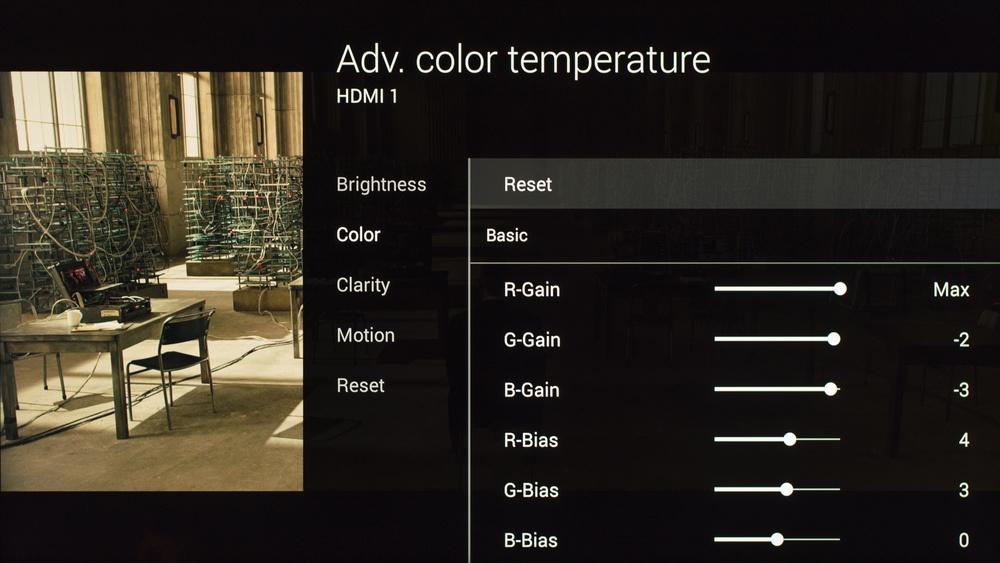 Sony X850C Calibration Settings 7