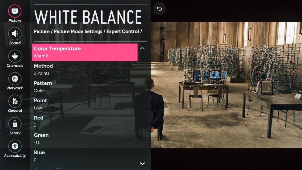 LG E6 Calibration Settings 5