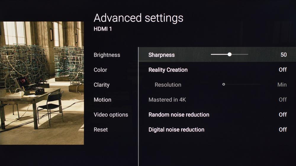 Sony X700D Calibration Settings 15
