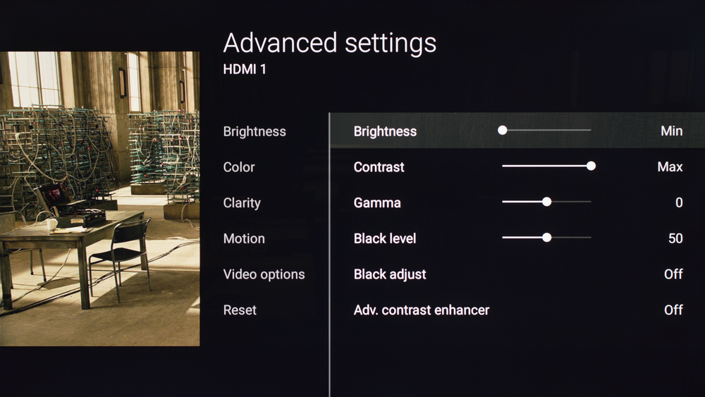 Sony X700D Calibration Settings 2
