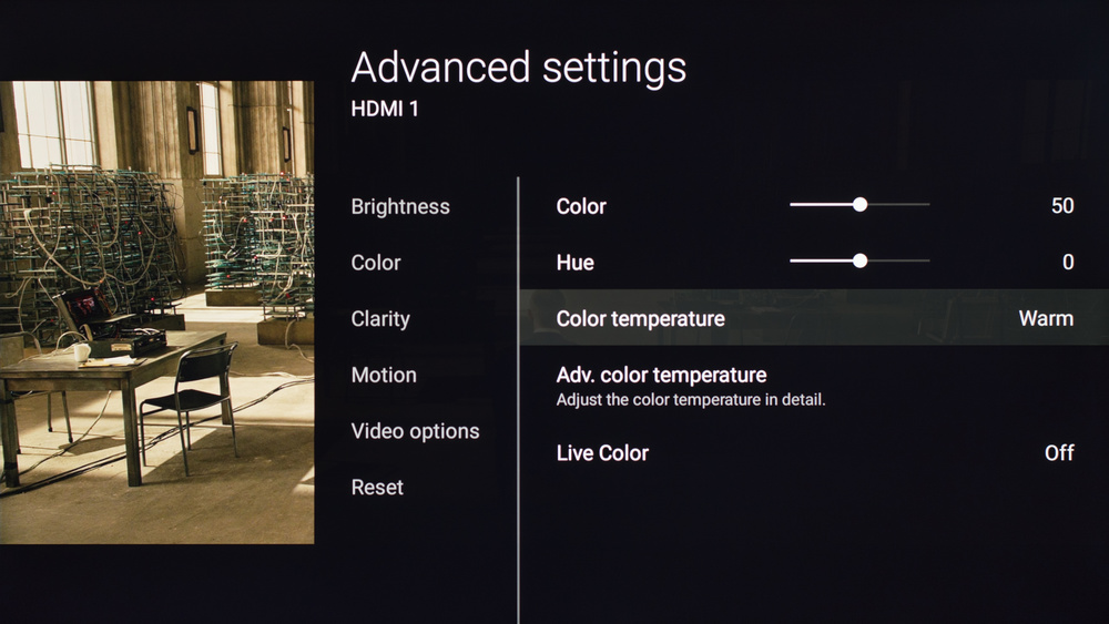 Sony X700D Calibration Settings 3