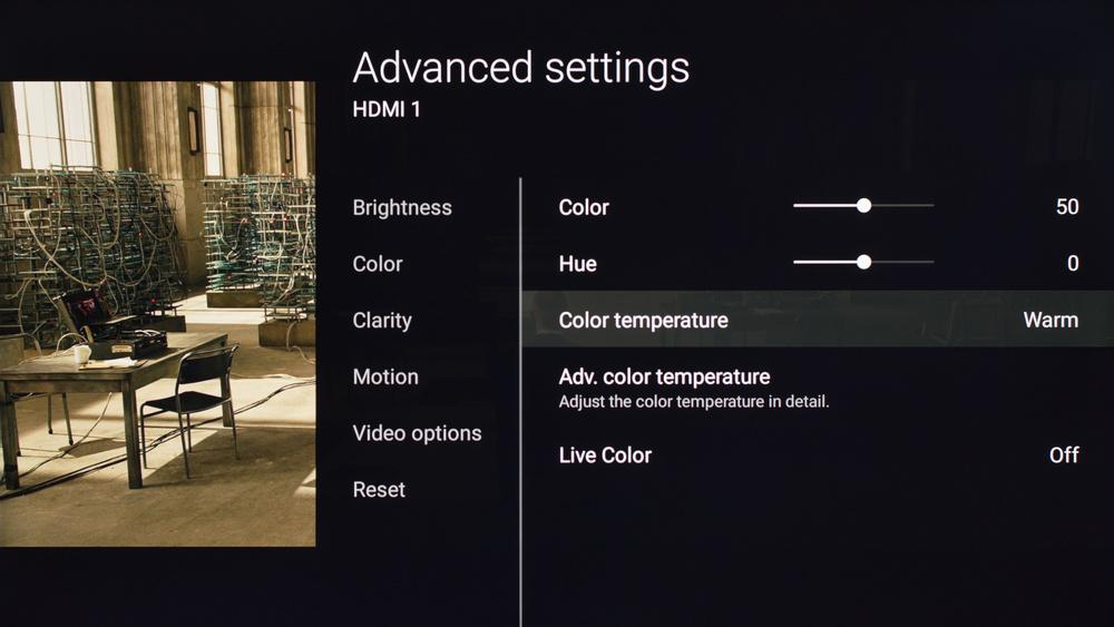 Sony X700D Calibration Settings 3