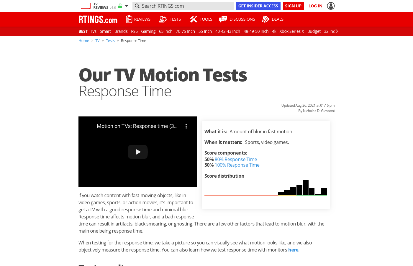 Motion Blur Of TVs - RTINGS com