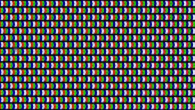 LG uf6800 pixels purple