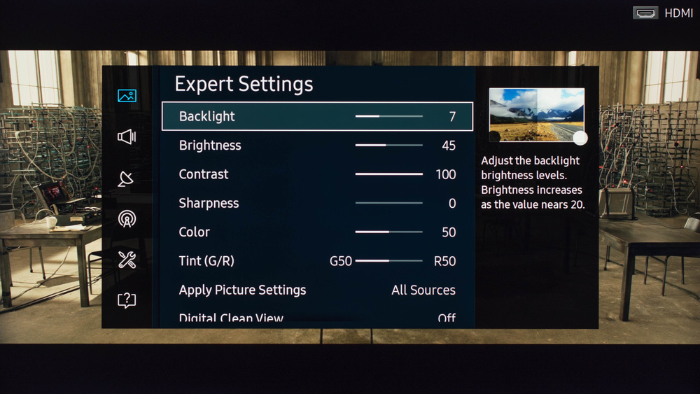Samsung KU7000 Calibration Settings 2