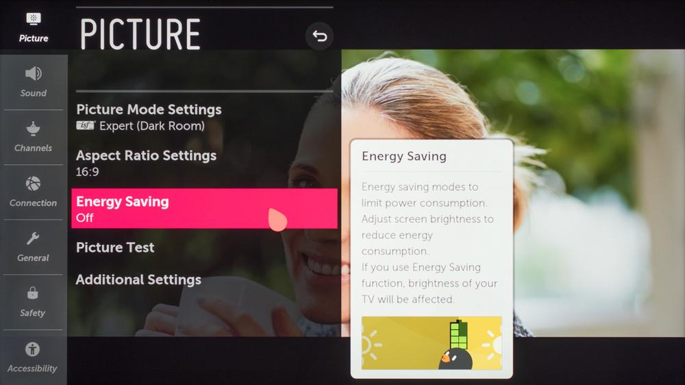 LG UM8070 Calibration Settings 40