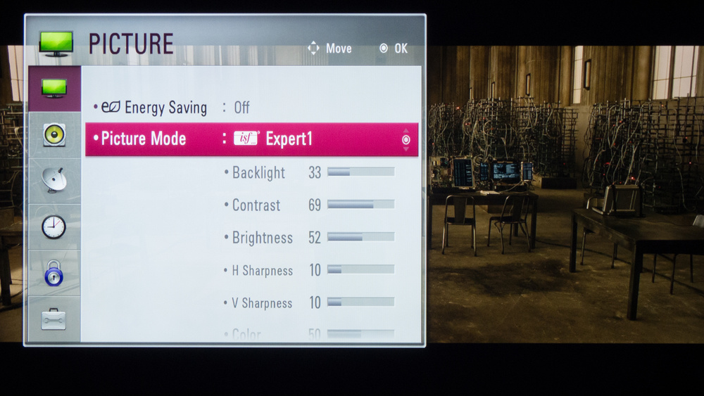 LG LB5900 Calibration Settings 1