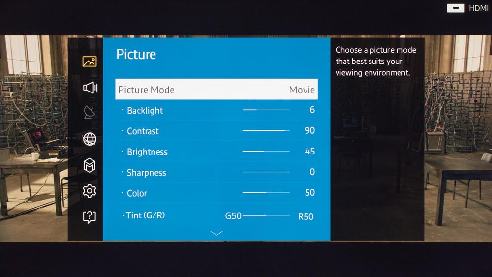 Samsung JU6500 Calibration Settings 1
