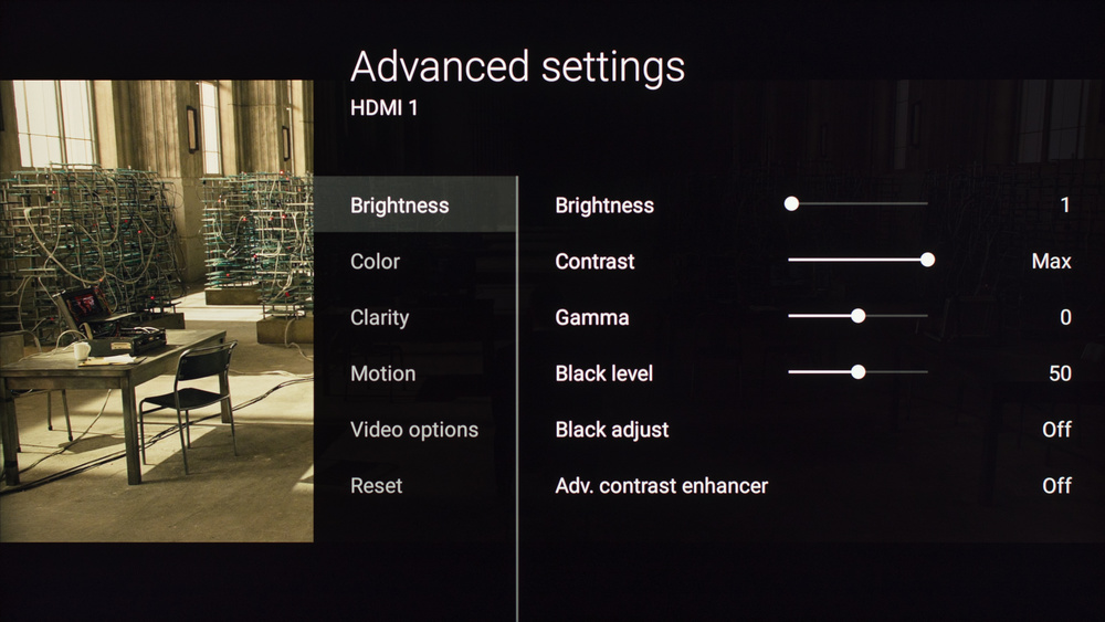 Sony X800D Calibration Settings 2