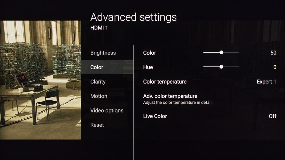 Sony X800D Calibration Settings 3