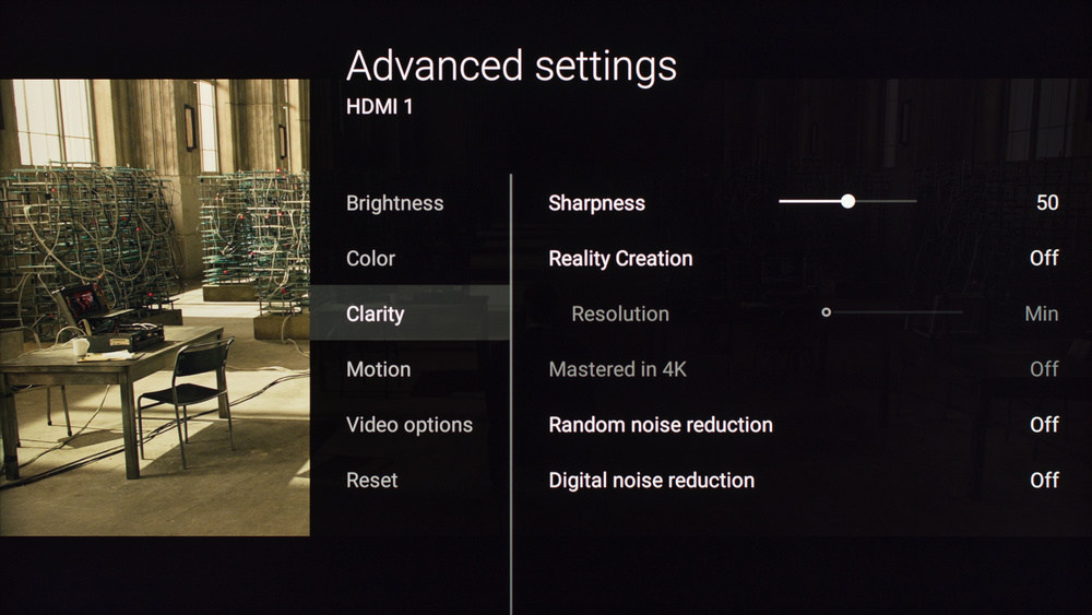 Sony X800D Calibration Settings 4