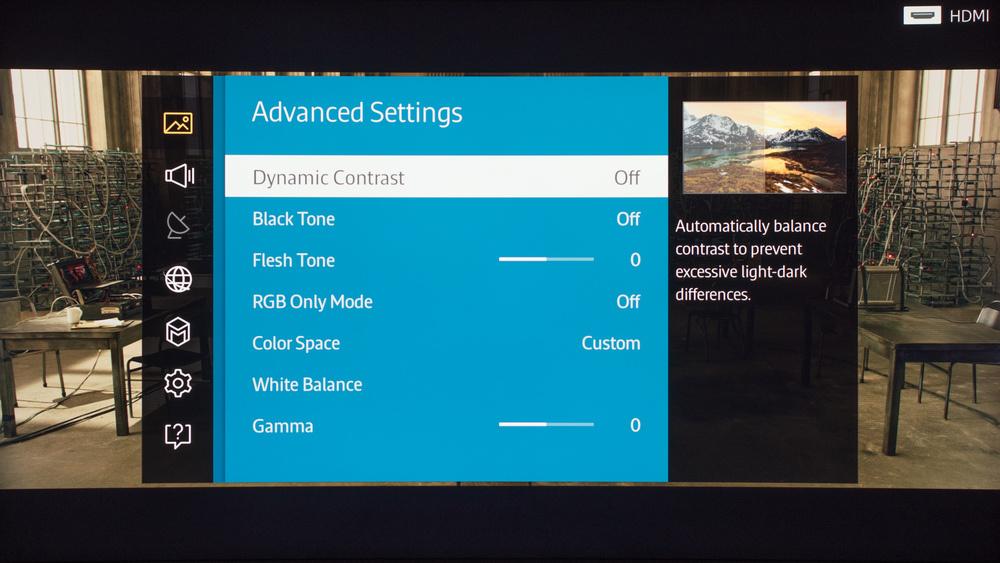 Samsung JU7500 Calibration Settings 3