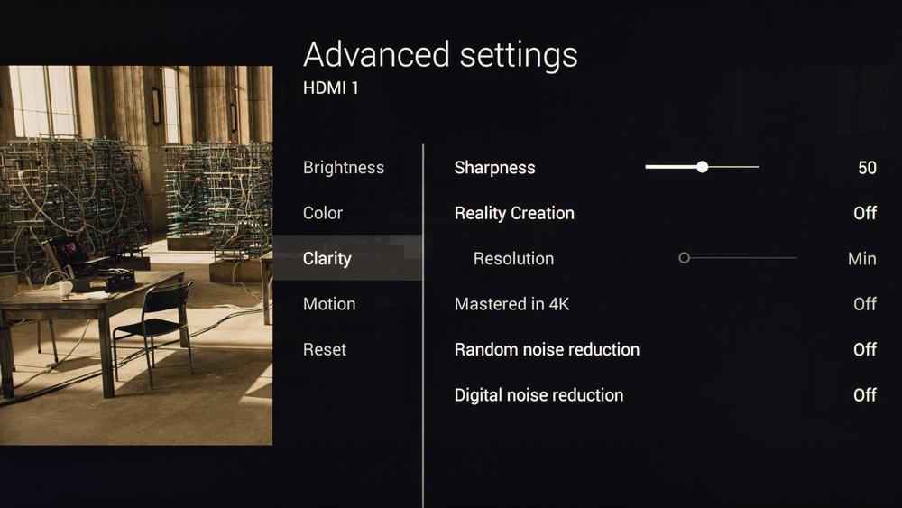 Sony X830C Calibration Settings 3