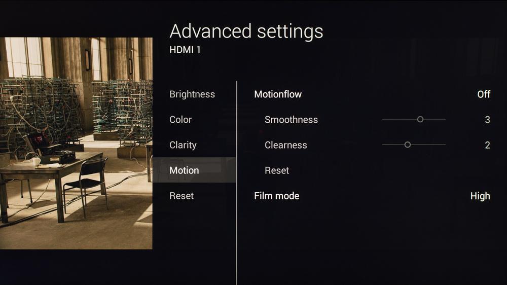 Sony X830C Calibration Settings 4