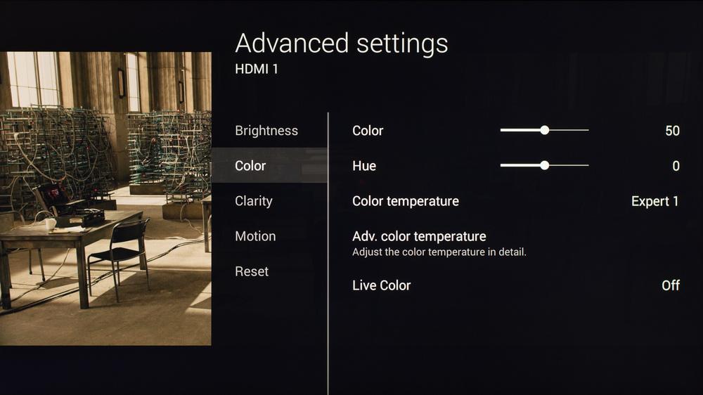 Sony X830C Calibration Settings 5