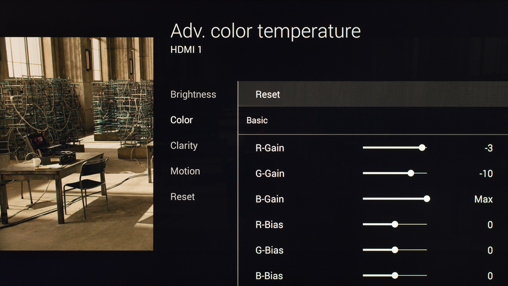 Sony X830C Calibration Settings 6