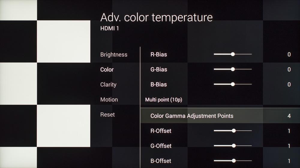 Sony X930C Calibration Settings 10