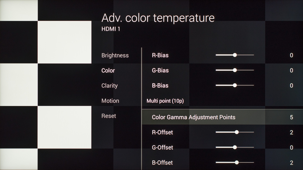 Sony X930C Calibration Settings 11