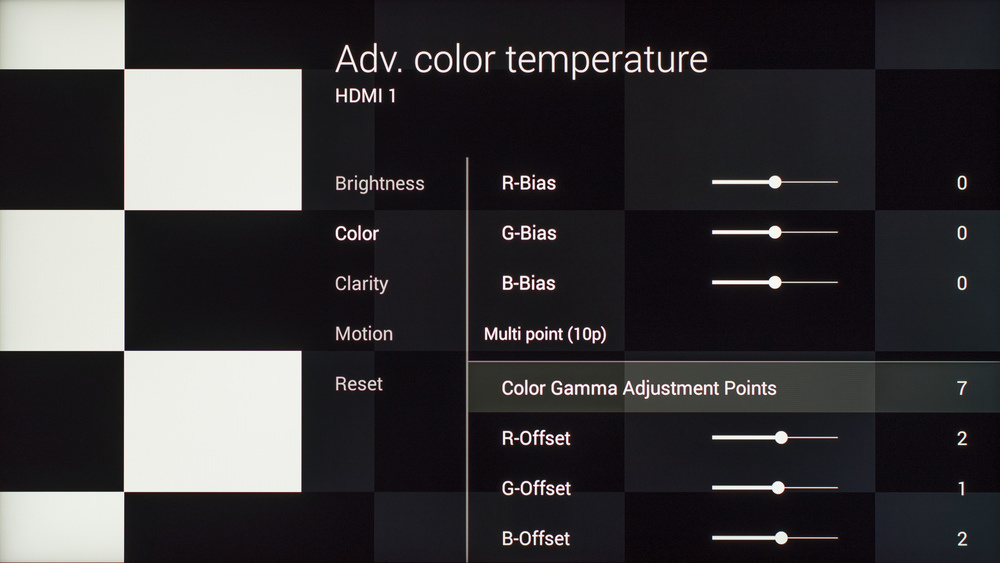 Sony X930C Calibration Settings 13