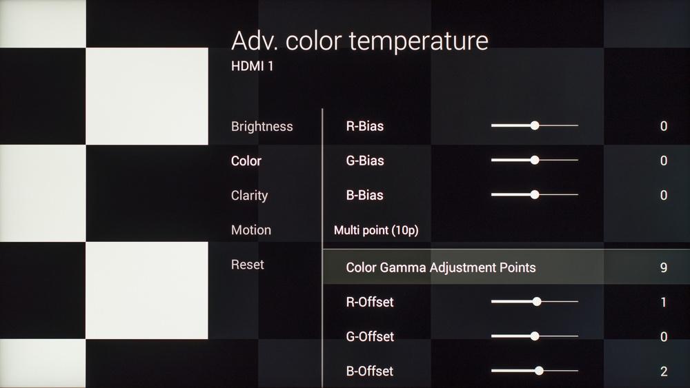 Sony X930C Calibration Settings 15