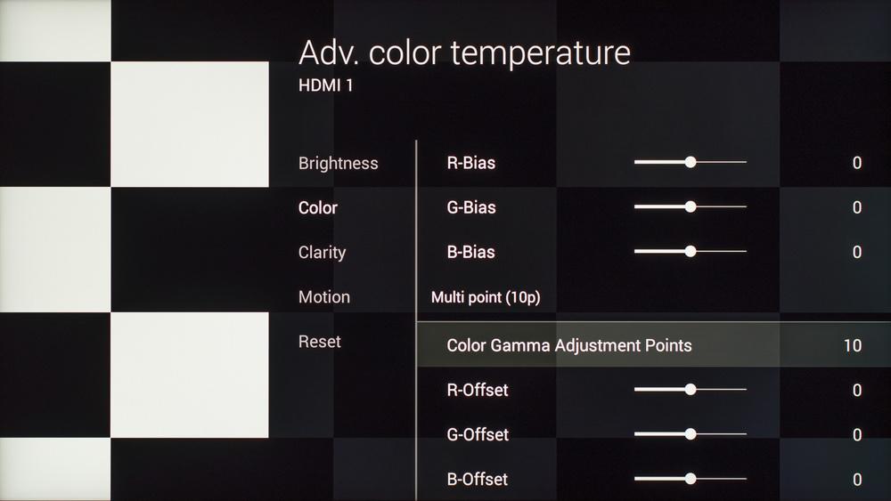 Sony X930C Calibration Settings 16