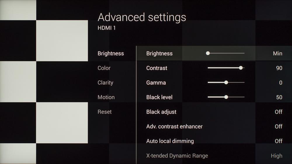 Sony X930C Calibration Settings 2