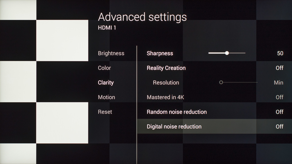 Sony X930C Calibration Settings 3
