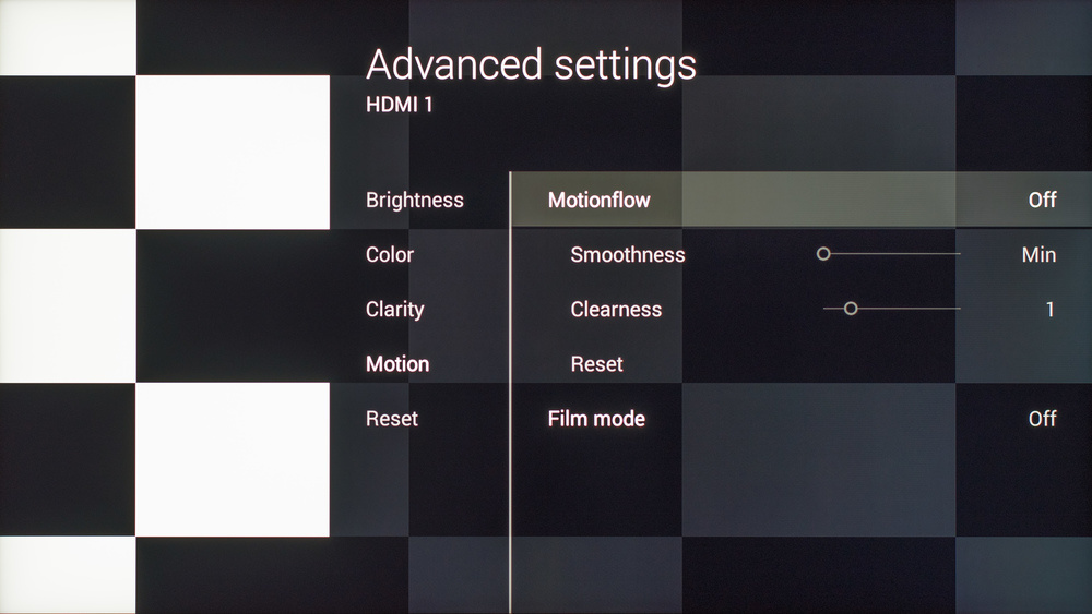 Sony X930C Calibration Settings 4